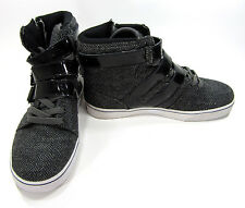 Radii Shoes Straight Jacket Hi Straps Black/Gray Chevron Sneakers Size 8.5