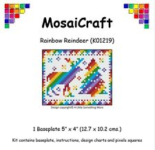 MosaiCraft Pixel Craft Mosaic Art Kit 'Rainbow Reindeer' (Like Paint by Numbers)
