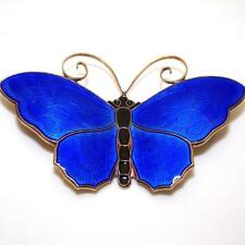 Vtg David Andersen Sterling Silver Modernist Large Enamel Butterfly Pin Brooch