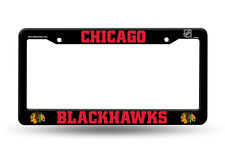 Chicago Blackhawks BLACK CUSTOM PLASTIC License Plate Frame Tag Cover Hockey