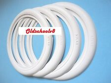 "VW Beetle Bug Kafer Pre Split Oval Whitewall Portawall 15"" Tire Trim set 4 Pcs"