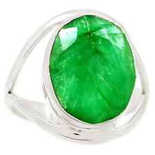Emerald 925 Sterling Silver Ring Jewelry s.9.5 SR209683