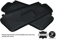 BLACK STITCHING 2X SUN VISORS LEATHER COVERS FITS BMW E36 CONVERTIBLE 1993-1998