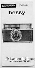 Voigtlander Bessy S Instructions from 1966. More Camera Manuals Listed.