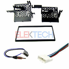Double DIN Radio Dash Mount Kit  with Harness & Antenna for Nissan Rogue & Versa