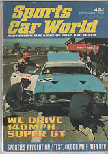 Sports Car World 1973 Dec Falcon XA GT Hardtop Toyota Celica Mustang 11 Porsche