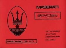 MASERATI Biturbo Spider Car Parts manual Spider Catalogue Book paper