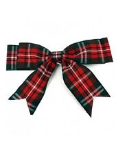 """100mm TARTAN Large Double Bows Ribbon Bows With Tails 4"""" Beautiful 4/8/20"""