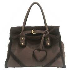 NEW FAUX SUEDE & FUR HANDLE LADIES AUSTRALIAN CELEB FASHION DESIGNER HANDBAG