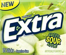 American Wrigley's Extra Sour Green Apple Chewing Gum from Candy Junction