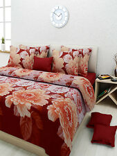 3D Printed Double Bed Sheet with 2 Pillow covers (Dreams076)