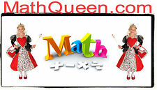 Math Queen .com Kids Learn Books Skills Tests Add Multiply School Domain  URL