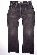 LEVIS 527 -1269 BANDIT  SLIM BOOT LEG MENS 30 X 30 GRAY BLACK JEANS DISTRESSED