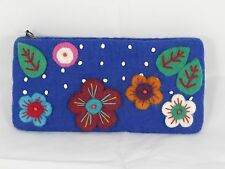 Multicolor Flower Beaded  Felt Handmade Purse Nepal - FREE SHIPPING!