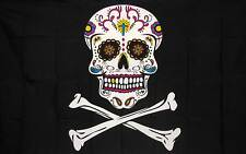 PIRATE SUGAR SKULL   3' x 5' Polyester Banner Flag