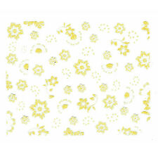 NAIL ART STICKER DECORATIONS YELLOW FLOWER DESIGN  FOR NAILS