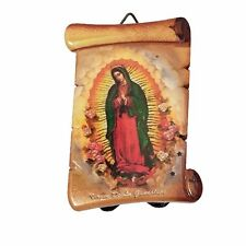 """3"""" Inch Virgen de la Guadalupe Religious wall and table plaque plate virgin"""