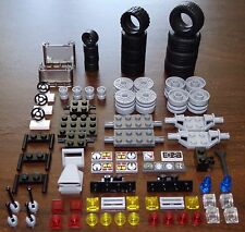 NEW LEGO ROAD & RACE TIRE LOT 77 Parts 3 Sets of Tires, Specialty Pieces +
