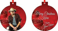 Personalized Jason Aldean Ornament ( Add Any Message You Want