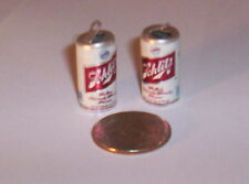 2 Vintage Schlitz Beer Can Gumball Vending Charms Crafting Jewelry Etc