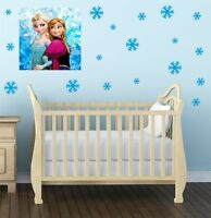 30 SNOWFLAKE wall or window stickers Decal vinyl FROZEN Christmas kids S8