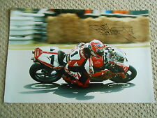 Carl Fogarty Ducati main signé 24x16 photo massive très rare..