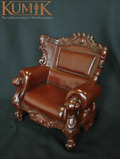 """1/6 Single Brown Sofa European Furniture For 12"""" Action Figure Toy Model"""