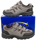 Mens New Grey Velcro Hiking Walking Trainers Size 6 7 8 9 10 11 12