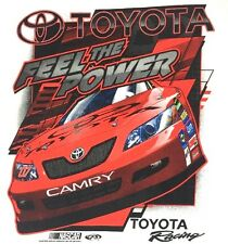 NASCAR Toyota Racing T- Shirt Size Large Feel the Power White Red Camry New Tag