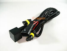 HID Conversion Kit Single Beam Relay Wiring Harness H1 H3 H7 H8 H9 H11 HB3 HB4