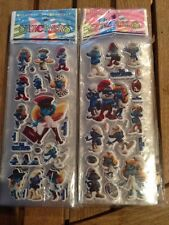 10 x SMURFS puffy  Stickers Party Bag Fillers Birthday party favours, games
