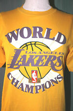 Vintage 1985 Los Angeles Lakers Adult Small World Champions T-Shirt (S LA Champs