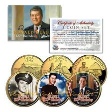 RONALD REAGAN *100th Birthday* 24K Gold U.S Legal Tender 3-Coin Life & Times Set