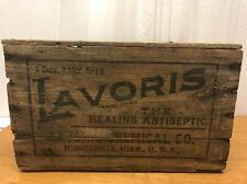 Vintage Antique Wooden LAVORIS advertising Crate Box Chemical Minneapolis, Mn
