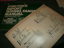 1990 VOLKSWAGEN CABRIOLET OVERSIZED WIRING DIAGRAMS SCHEMATICS MANUAL SHEETS SET
