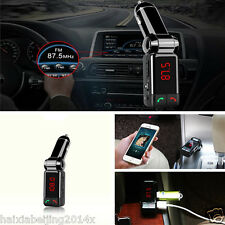 Dual USB Auto Car Charger FM Transmitter Modulator Wireless Bluetooth MP3 Player