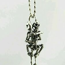 Hot Men Infinity Tibet Silver Stainless Steel Skull Pendant Chain Necklace