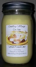 16 oz Hand Poured Soy Candle Lemon Pound Cake.FREE SHIPPING
