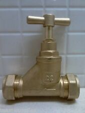 BRASS MAINS STOPCOCK 22mm STOP COCK COMPRESSION TAP