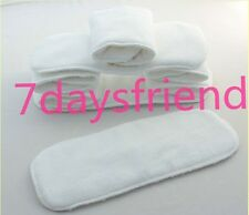 New 10 Pcs Reusable Baby inserts liners for Cloth Diaper Nappy microfiber