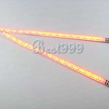 2x Amber/Yellow 30cm 32 Leds 3528/1210 SMD LED Strip Light Flash Waterproof 12V