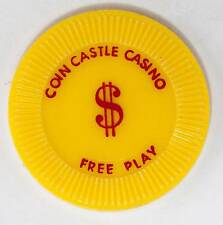 1960's Coin Castle Casino Free Play Casino Chip Las Vegas, NV