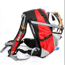 New  20L Cycling Bike Bicycle Sports Bag Backpack Red With Rain Cover