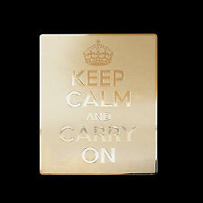 Keep Calm And Carry On Metal Decal Sticker Case Computer PC Laptop (G)