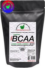 1000g 2.2 Lb BCAA 2:1:1 FREE FORM BRANCHED CHAIN AMINO ACIDS KOSHER PURE POWDER