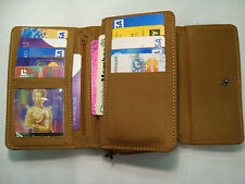 Leather Ladies Purse Wallet with Double Credit Cards Sections