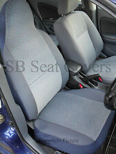 TO FIT A NISSAN SERENA, CAR SEAT COVERS, CHEVRON BLUE FABRIC