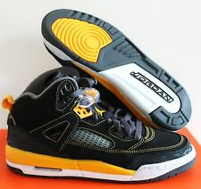 NIKE JORDAN SPIZIKE (GS) BLACK-UNVRSTY GOLD SZ 6y//WOMEN SZ 7.5 [317321 030]