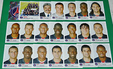 PANINI FOOTBALL FOOT 2007 PARIS SAINT-GERMAIN PSG COMPLET FRANCE 2006-2007