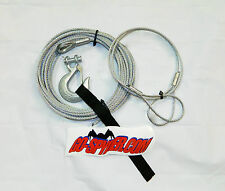 "ATV Winch Cable 3/16"" x 50' with Hook tether & Decal"